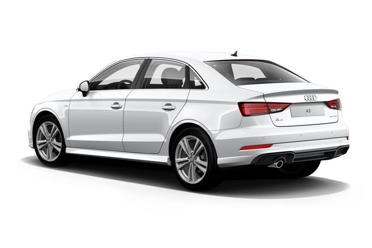 Audi A3 30 Saloon 4Dr 1.0 TFSI 110PS S line 4Dr S Tronic [Start Stop] back view
