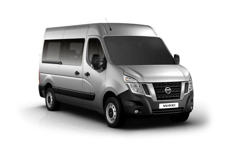 Nissan NV400 Minibus L2 35 M1 FWD 2.3 dCi FWD 145PS SE Combi Medium Roof Manual [Start Stop] [6Seat] front view