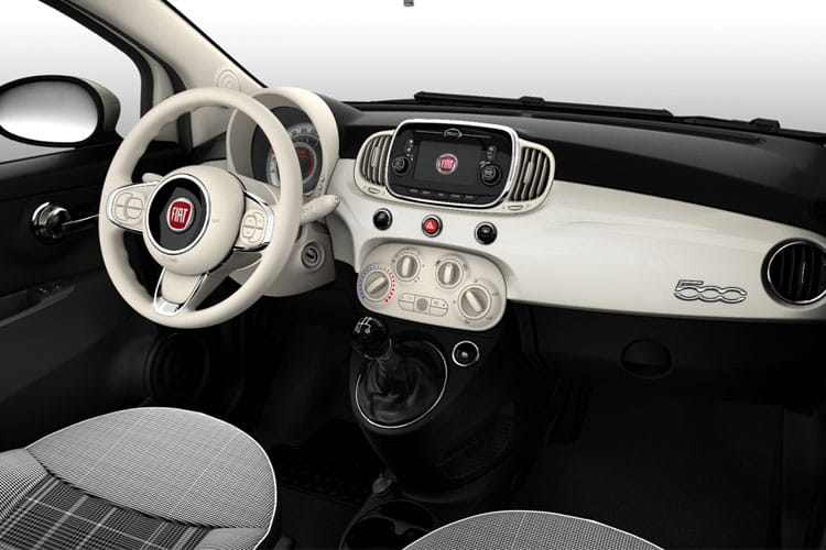 Fiat 500 C Convertible 1.0 MHEV 70PS Pop 2Dr Manual [Start Stop] inside view